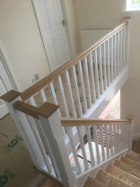 White Amp Wood Combination Refurbished Stairs Birmingham