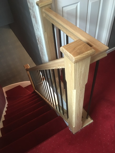 Metal Amp Wood Combination Refurbished Stairs Birmingham